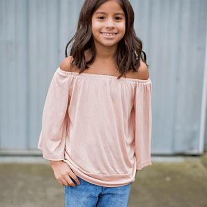 Peach off-shoulder blouse