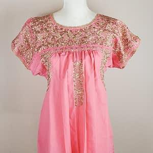 Arte de mi tierra; pink; blouse; flowers;