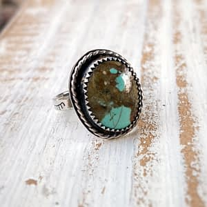 Baja Turquoise sterling silver ring, Size 4.5 US
