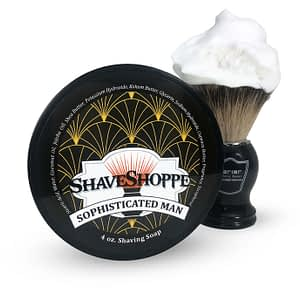 New & improved sophisticated man shave soap.
