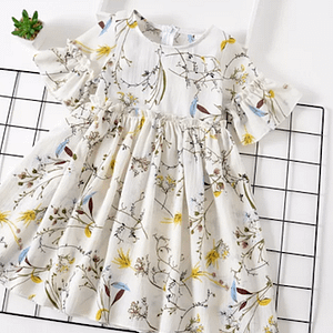 White Floral Summer Dress