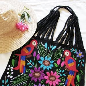 Mexican bag, embroidered bag, mexican accesory, maya textiles,