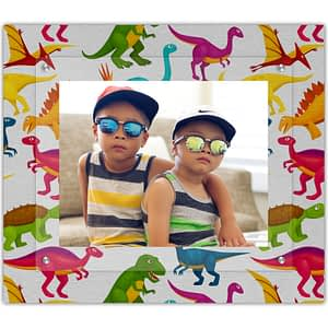 Colorful dino picture frame for the boys or girls room I love dinosaurs