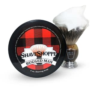 New & improved rugged man shave soap.