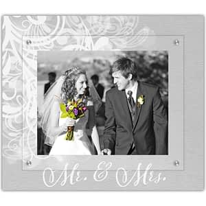 Love is Love picture frame Mr. & Mrs. classic flourish design by The Modern Angle