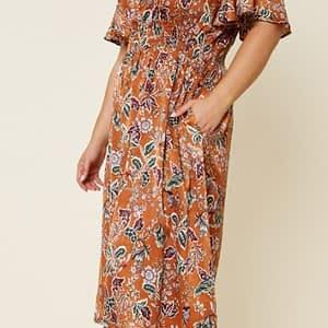 Camel Midi dress plus size