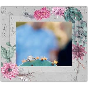 Succulent floral cactus garden on metal picture frame the modern twist
