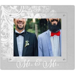 Love is Love picture frame Mr. & Mr. classic flourish design by The Modern Angle
