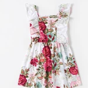 White-Rose Floral Dress