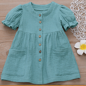 Teal Cotton Summer Dress